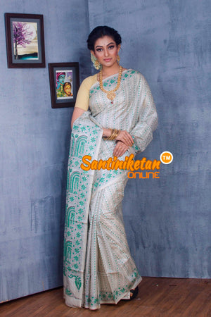 Traditional Kantha Stitch Saree SN2018869
