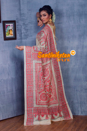 Traditional Kantha Stitch Saree SNN2018870
