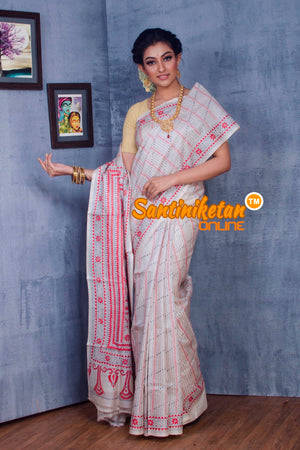 Traditional Kantha Stitch Saree SN2018872