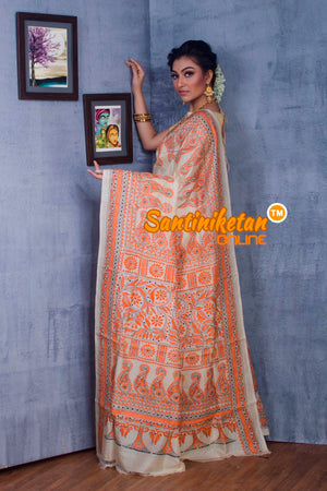 Traditional Kantha Stitch Saree SN2018877