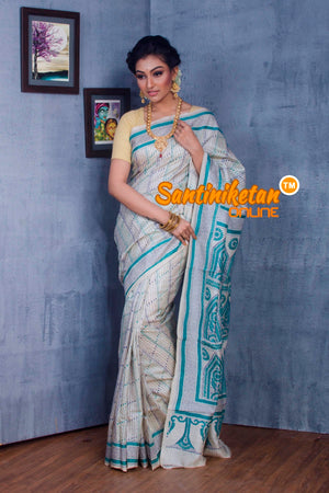 Traditional Kantha Stitch Saree SN2018878
