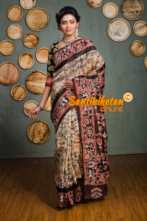 Hand Batik On Murshidabad Silk SN20182530