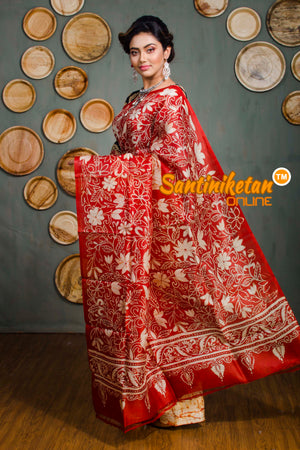 Hand Batik On Murshidabad Silk SN20182544