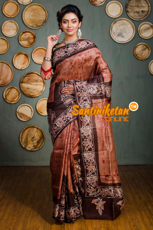 Hand Batik On Murshidabad Silk SN20182546