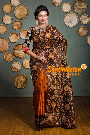 Hand Batik On Murshidabad Silk SN20182558