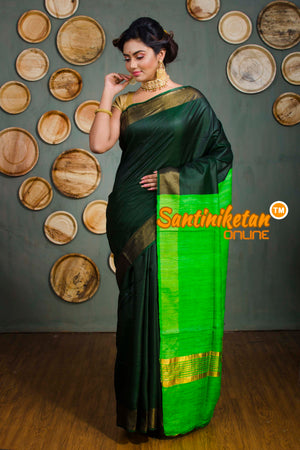 Trendy Zari Border Ghicha Anchol Saree SN20192583