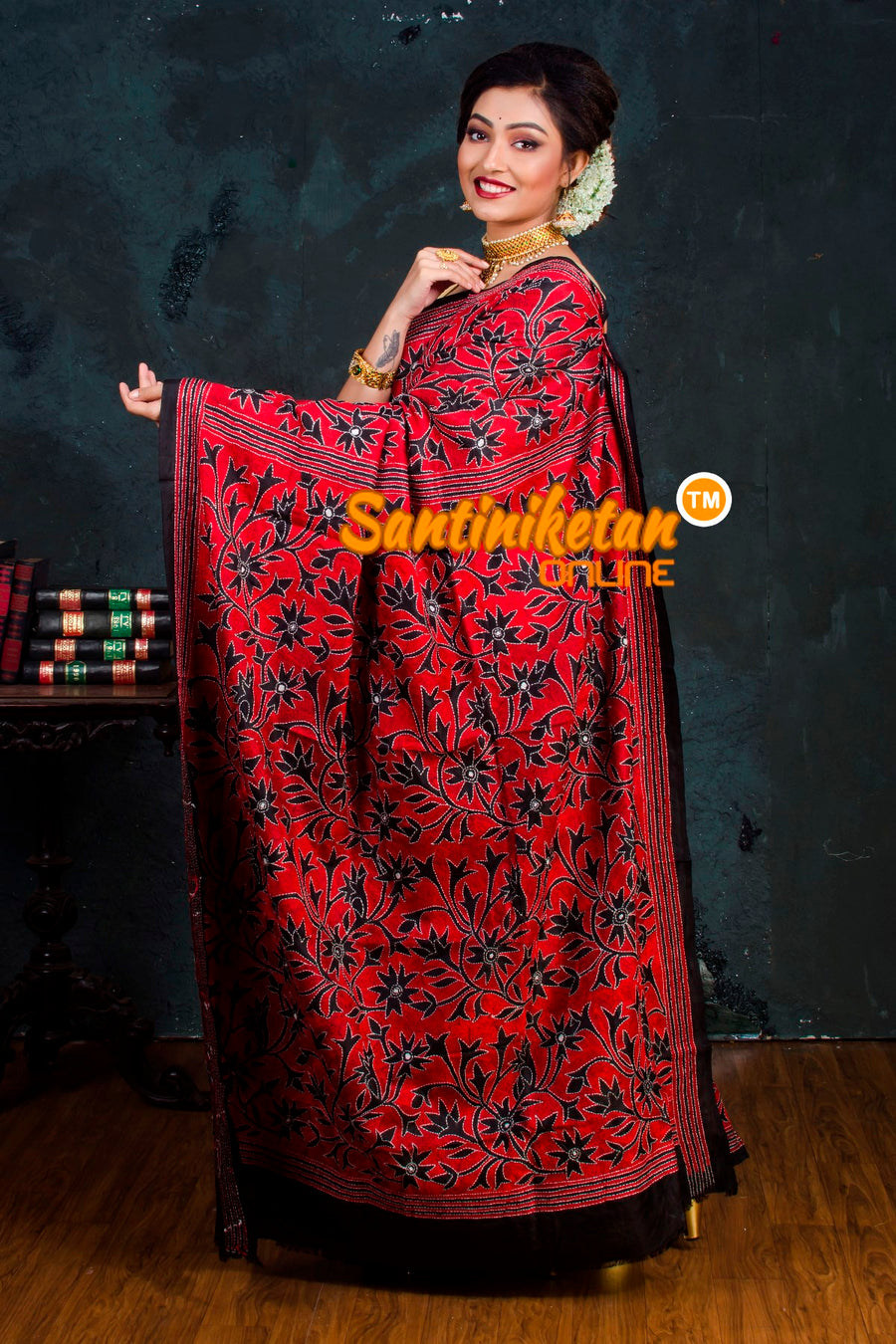 Kantha Stitch Saree SN2018972
