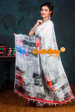 Multicolor Handwovean Digital Printed Linen SN20181003
