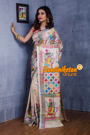 Kantha Stitch Saree SN20181015