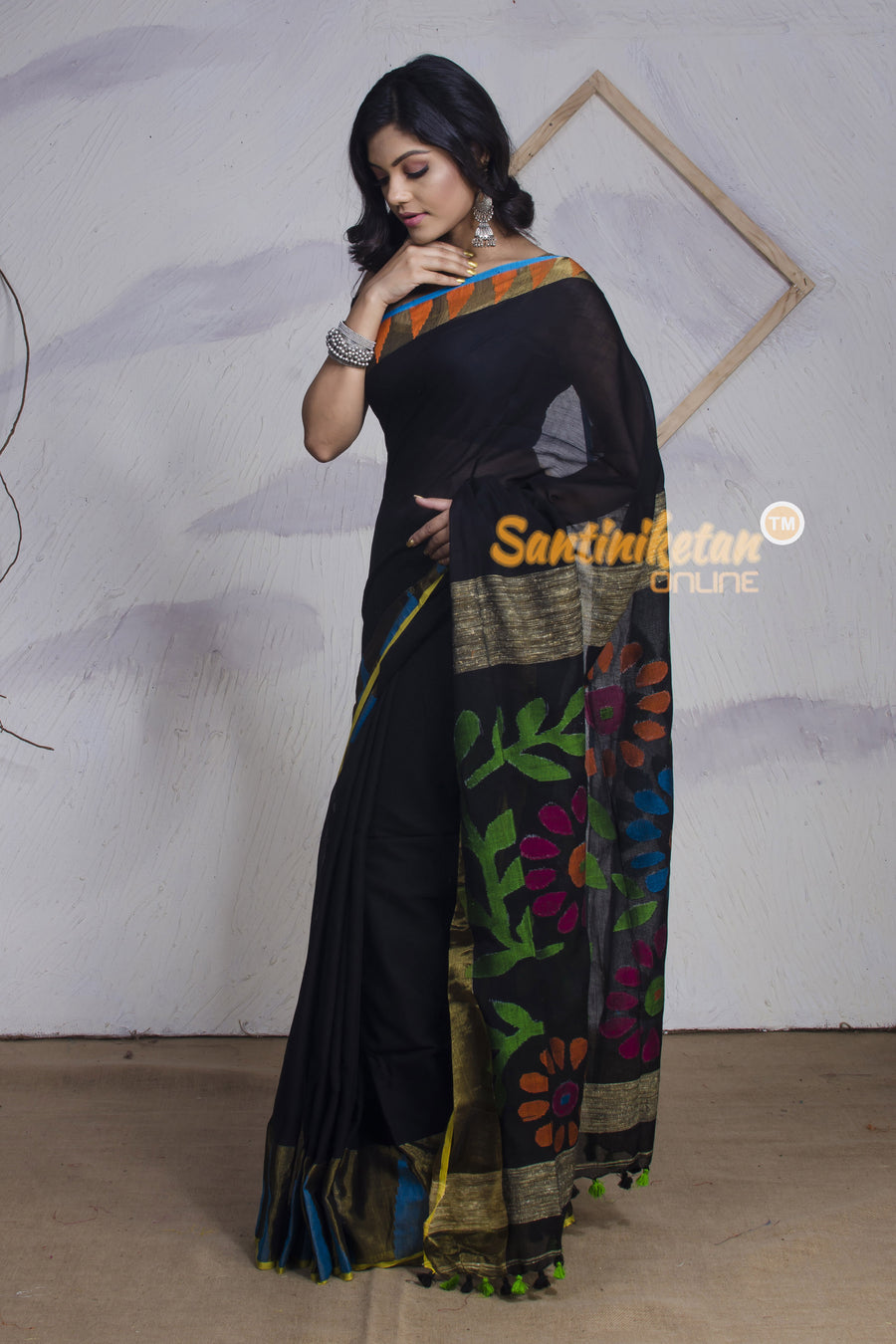 Soft Silk Khaddi Cotton Handloom Jamdani Saree SN2017489