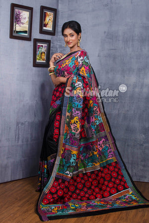 Kantha Stitch Saree SN2018759