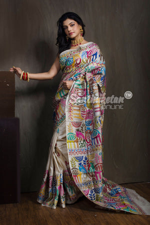 Kantha Stitch Saree SN2018768
