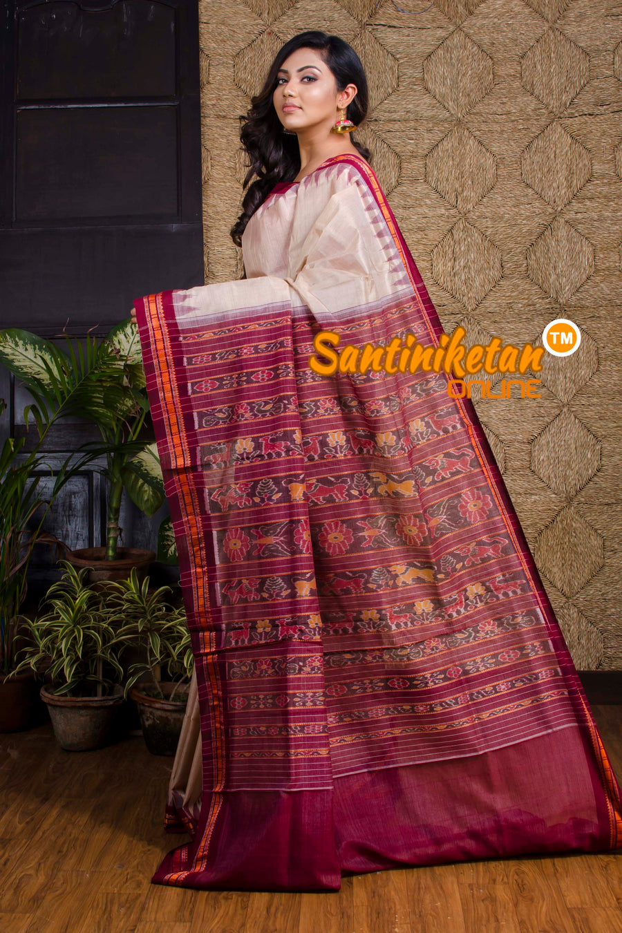 Traditional Ikkat Tussar Silk Saree SN20190050