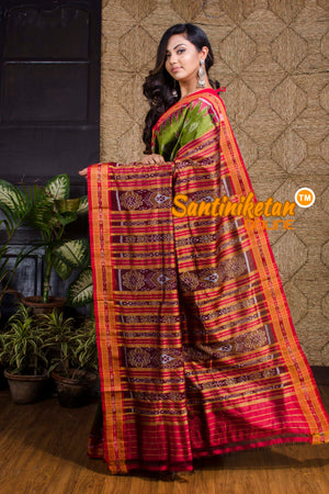 Traditional Ikkat Silk Saree SN20190062
