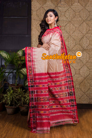 Tussar Small Check Odisha Ikat Saree SN20190070
