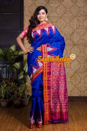Big Temple Border Traditional Ikkat Silk Saree SN20190076