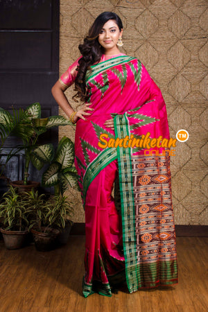 Big Temple Border Traditional Ikkat Silk Saree SN20190078
