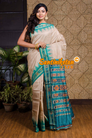 Traditional Ikkat Tussar Silk Saree SN20190098