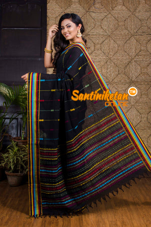 Multi color Cotton Hand Crafted Saree SN20199863