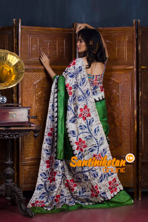 Hand Batik On Murshidabad Silk SN20190548
