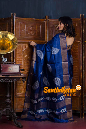 Hand Painted Tussar Silk SN20190579