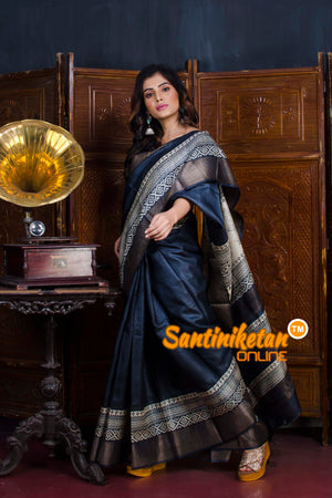 Hand Painted Tussar Silk SN20190582