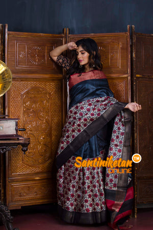 Hand Painted Tussar Silk SN20190585
