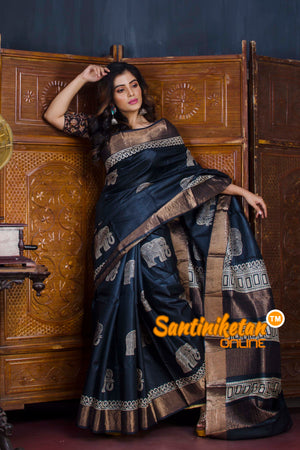 Hand Painted Tussar Silk SN20190588