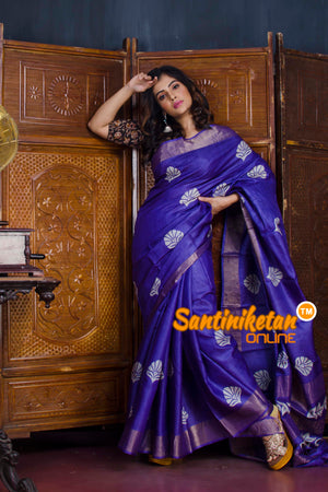 Hand Painted Tussar Silk SN20190591
