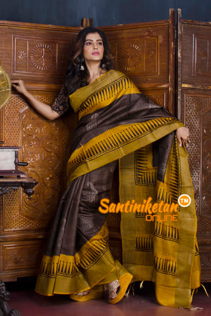 Hand Painted Tussar Silk SN20190594