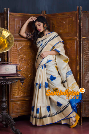 Hand Painted Tussar Silk SN20190597