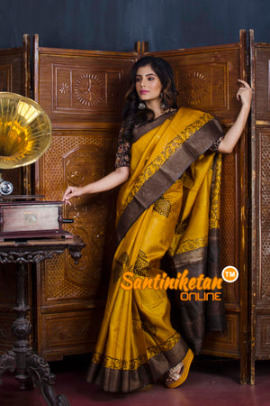 Hand Painted Tussar Silk SN20190600