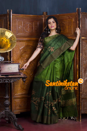 Hand Painted Tussar Silk SN20190603