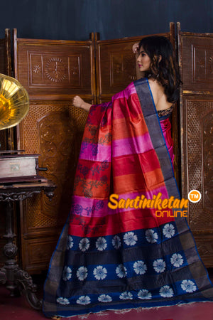 Hand Painted Tussar Silk SN20190606