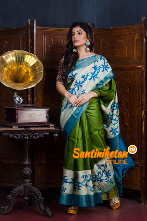 Hand Painted Tussar Silk SN20190609