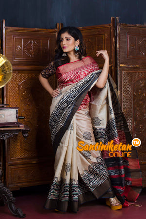Hand Painted Tussar Silk SN20190628