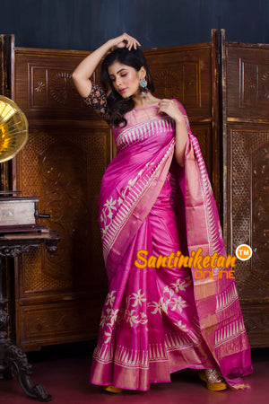 Hand Painted Tussar Silk SN20190631