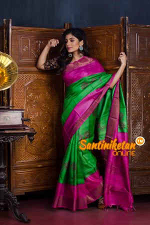 Hand Painted Tussar Silk SN20190634