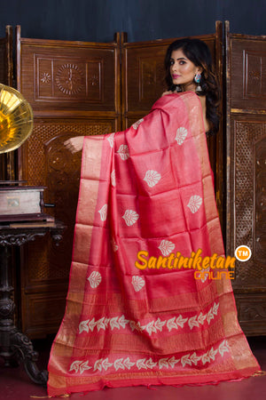 Hand Painted Tussar Silk SN20190640