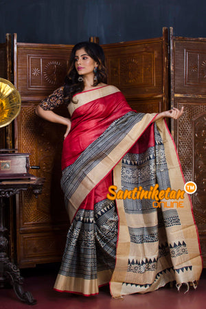 Hand Painted Tussar Silk SN20190643