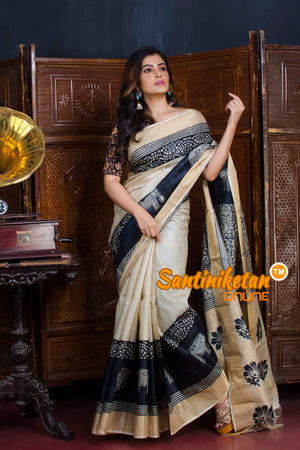 Hand Painted Tussar Silk SN20190652