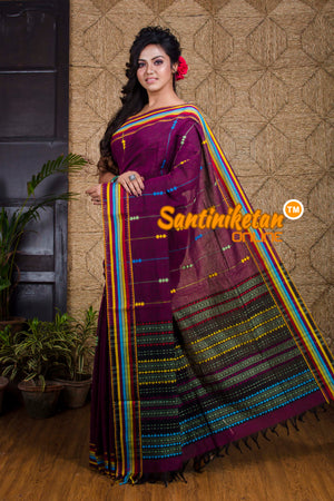 Multi color Cotton Hand Crafted Saree SN20191980