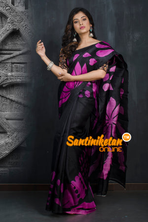 Hand Made Design On Murshidabad Silk SN20193311