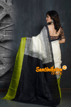 Hand Made Design On Murshidabad Silk SN20193320