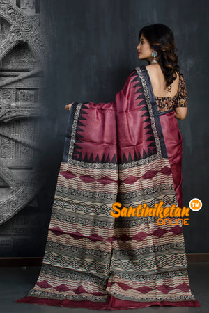 Hand Painted Tussar Silk SN20193365