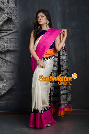 Hand Made Design On Murshidabad Silk SN20193377