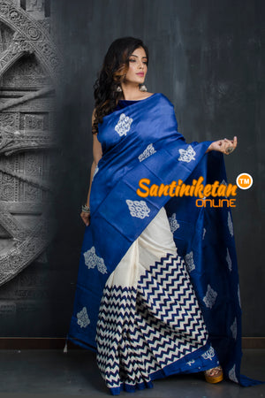 Hand Made Design On Murshidabad Silk SN20193396