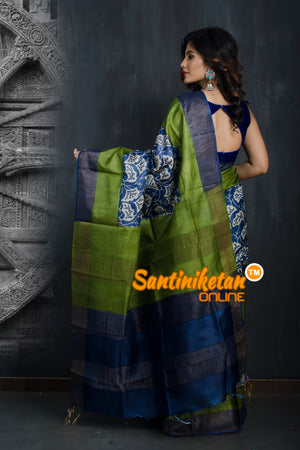 Hand Painted Tussar Silk SN20193399