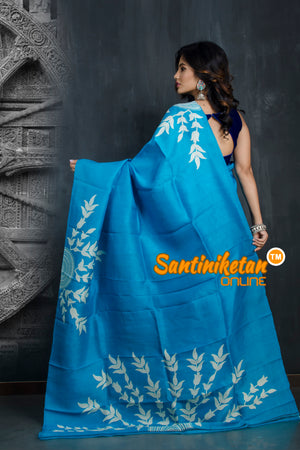 Hand Made Design On Murshidabad Silk SN20193402