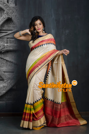 Hand Painted Tussar Silk SN20193405